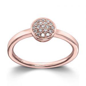 Mestergull Lekker ring i rosè gull med diamanter MG DIAMONDS Ring