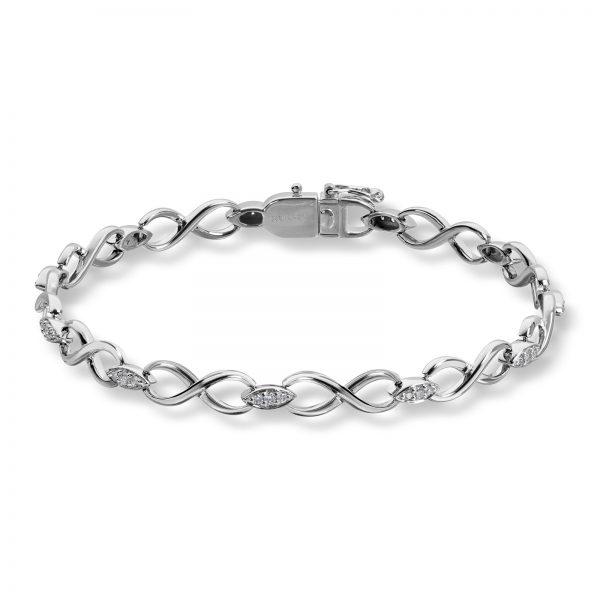 Mestergull Flott armbånd i hvitt gull med diamanter MG DIAMONDS Armbånd