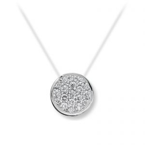 Mestergull Tidløst anheng i hvitt gull med diamanter MG DIAMONDS Anheng