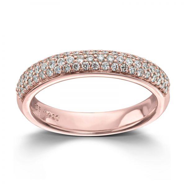 Mestergull Delikat ring i rødt gull med diamanter MG DIAMONDS Ring