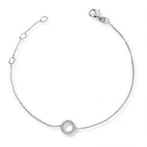 Mestergull Elegant armbånd i hvitt gull med diamanter MG DIAMONDS Armbånd