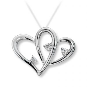 Mestergull Flott anheng i hvitt gull med diamanter MG DIAMONDS Anheng