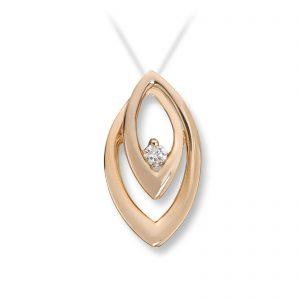 Mestergull Elegant anheng i gult gull med diamanter MG DIAMONDS Anheng