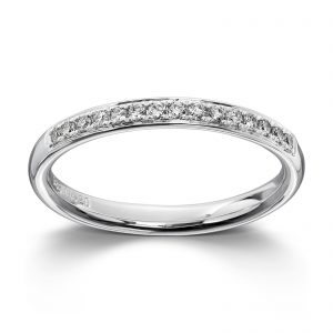Mestergull Klassisk ring i hvitt gull med diamanter MG DIAMONDS Ring