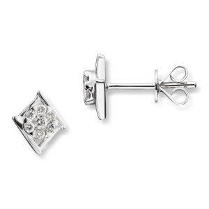 Mestergull Vakker ørepynt i hvitt gull med diamanter MG DIAMONDS Ørepynt