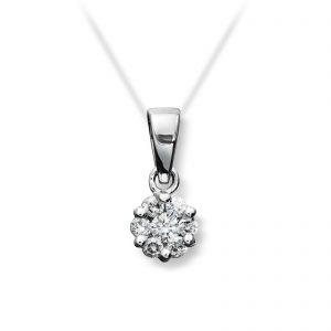 Mestergull Stilrent anheng i hvitt gull med diamanter MG DIAMONDS Anheng