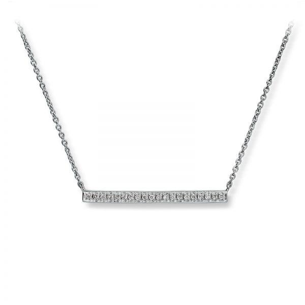 Mestergull Lekkert kjede i hvitt gull med diamanter MG DIAMONDS Kjede