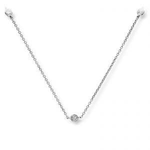 Mestergull Flott kjede i hvitt gull med diamanter MG DIAMONDS Kjede