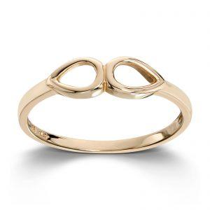 Mestergull Enkel og ren ring i gult gull MESTERGULL Ring