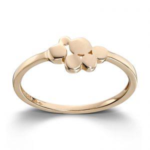 Mestergull Ren og moderne ring i gult gull MESTERGULL Ring