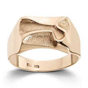 Mestergull Flott ring til herre i gult gull MESTERGULL Ring