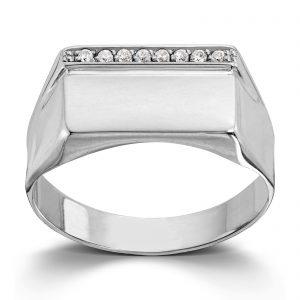 Mestergull Lekker signetring i hvitt gull MESTERGULL Ring