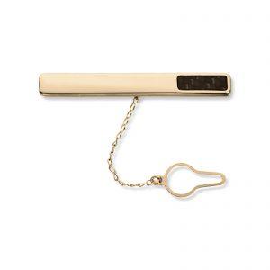 Mestergull Tøff slipsnål i gult gull med carbon MESTERGULL Slipsnål