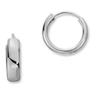 Mestergull Klassiske øreringer i sølv MG BASIC Ørepynt