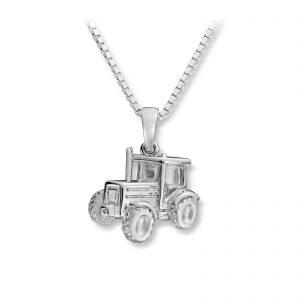 Mestergull Tøft anheng som traktor i rhodinert sølv MG BASIC Anheng