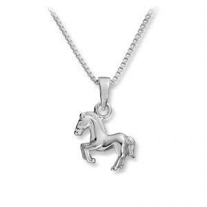 Mestergull Søtt anheng som hest i rhodinert sølv MG BASIC Anheng