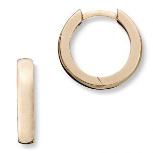Mestergull Trendy øreringer i gult gull MG BASIC Ørepynt