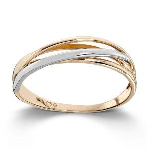 Mestergull Fin tofarget gull ring MESTERGULL Ring