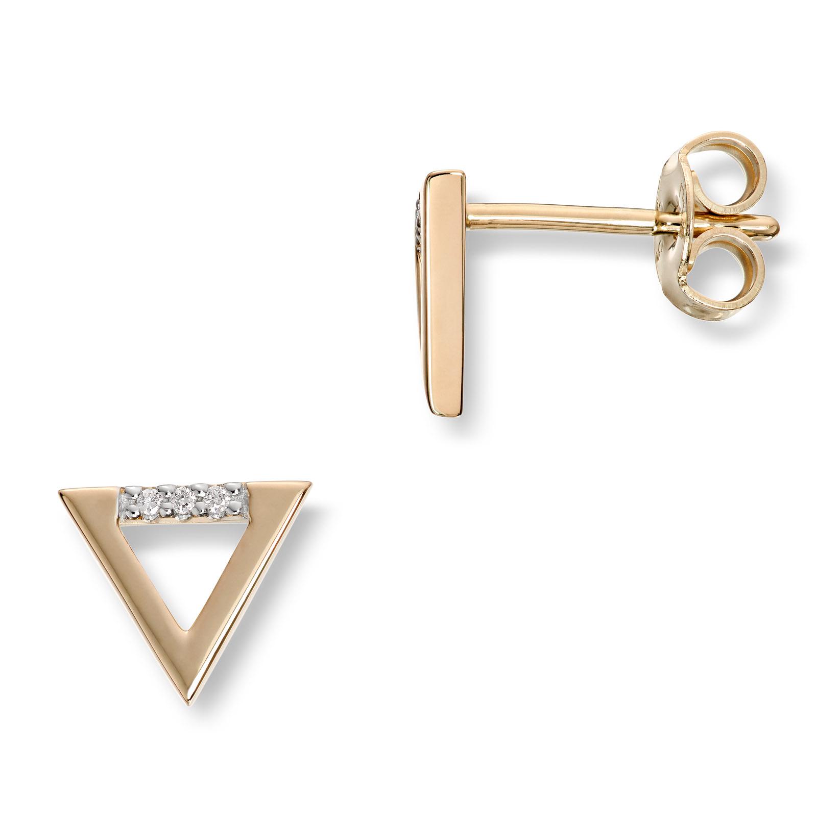 Mestergull Tøff ørepynt i gult gull med diamanter MG DIAMONDS Ørepynt