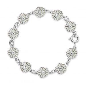 Mestergull Armbånd i sølv prestrakrage med hvit emalje PIA & PER Armbånd