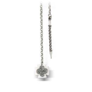 Mestergull Kjede i oksidert sølv. Lengden er 110 cm. NORSK BUNADSØLV Kjede
