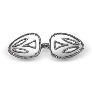 Mestergull Oppdal capespenne i oksidert sølv NORSK BUNADSØLV Spenne