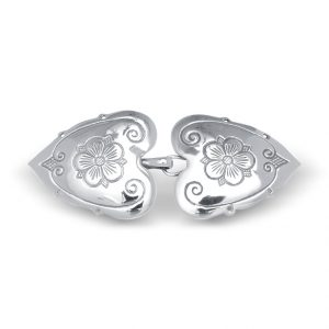 Mestergull Capespenne Olavsrosen i oksidert sølv NORSK BUNADSØLV Spenne