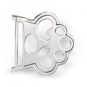 Mestergull Selespenne i oksidert sølv med stang. NORSK BUNADSØLV Spenne