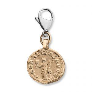 Mestergull Mynt i gult gull. Diameter på mynt 1,9 cm VAN BERGEN Mynt Anheng