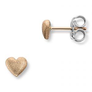 Mestergull Mellomstore hjerte ørepynt i gult gull. Diameter 0,7 cm VAN BERGEN Golden Heart Ørepynt
