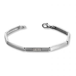Mestergull Delikat armbånd i rhodinert sølv med cubic zirkonia MESTERGULL Armbånd