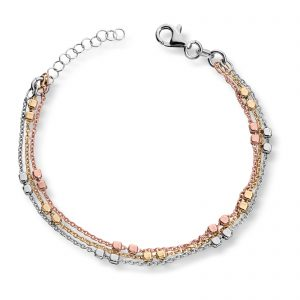Mestergull Fint armbånd i rhodinert, forgylt og rosèforgylt sølv MESTERGULL Armbånd