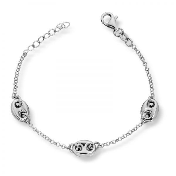 Mestergull Lekkert armbånd i rhodinert sølv MESTERGULL Armbånd