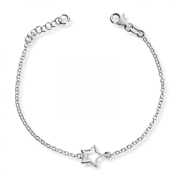 Mestergull Delikat armbånd med stjerne i sølv MG BASIC Armbånd