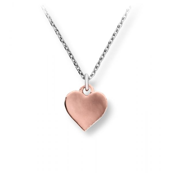 Mestergull Rent hjerteanheng i roseforgylt sølv MG BASIC Anheng