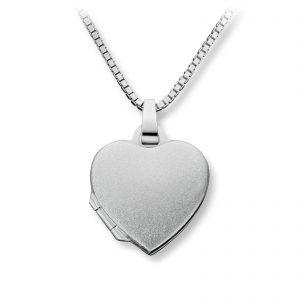 Mestergull Enkel hjertemedaljong i sølv MESTERGULL Anheng