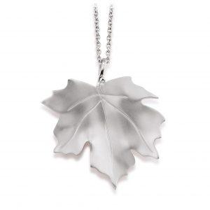 Mestergull Trendy anheng i rhodinert sølv med lønneblad VIVENTY Anheng