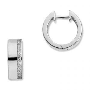 Mestergull Flotte øreringer i rhodinert sølv MESTERGULL Ørepynt