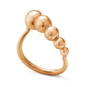 Mestergull Moonlight Grapes Ring i 18kt rosè gull GEORG JENSEN Grape Ring