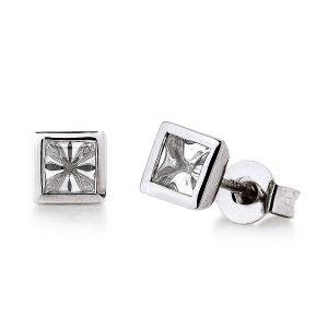 Mestergull Flott ørepynt i rhodinert sølv med hvit cubic zirkonia VIVENTY Ørepynt