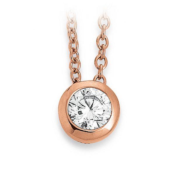 Mestergull Klassisk kjede i rosèforgylt sølv med cubic zirkonia VIVENTY Kjede
