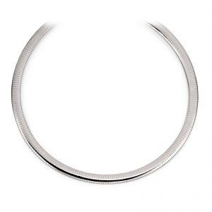 Mestergull Enkelt collier i rhodinert sølv VIVENTY Kjede
