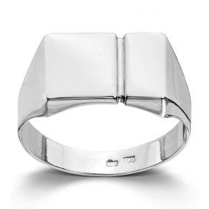 Mestergull Flott ring til herre i hvitt gull MESTERGULL Ring