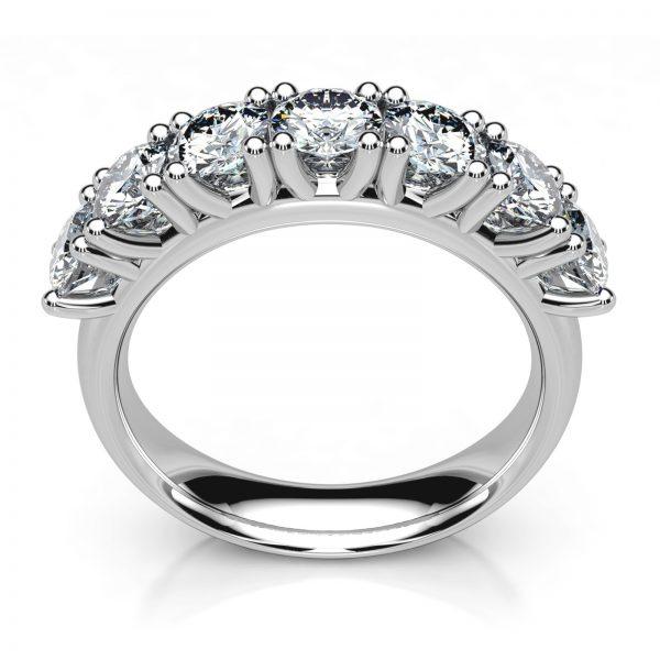 Mestergull Rekkering Mill+ i hvitt gull 585 med 7 diamanter à 0,25 ct. Totalt 1,75 ct. EVS DESIGN STUDIO Spesialdesign Ring