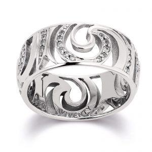 Mestergull Lekker ring i rhodinert sølv med cubic zirkonia VIVENTY Ring
