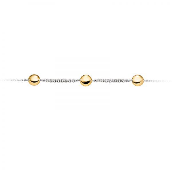 Mestergull Delikat armbånd i rhodinert og forgylt sølv VIVENTY Armbånd