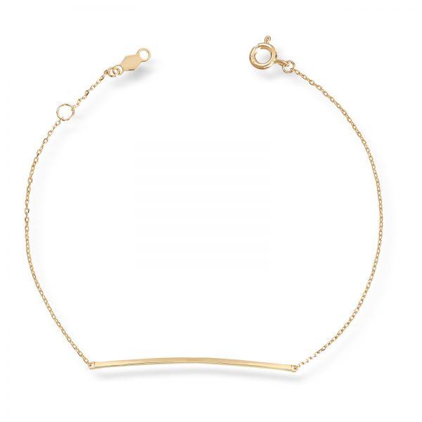Mestergull Elegant armbånd i gult gull MESTERGULL Armbånd