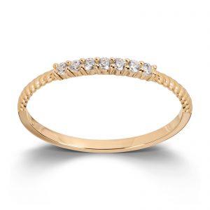 Mestergull Flott ring i gult gull med cubic zirkonia MESTERGULL Ring
