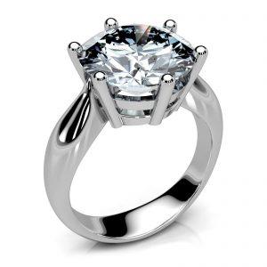 Mestergull Ring i hvitt gull 585 designet for å passe kundens diamant DESIGN STUDIO Solitaire Ring