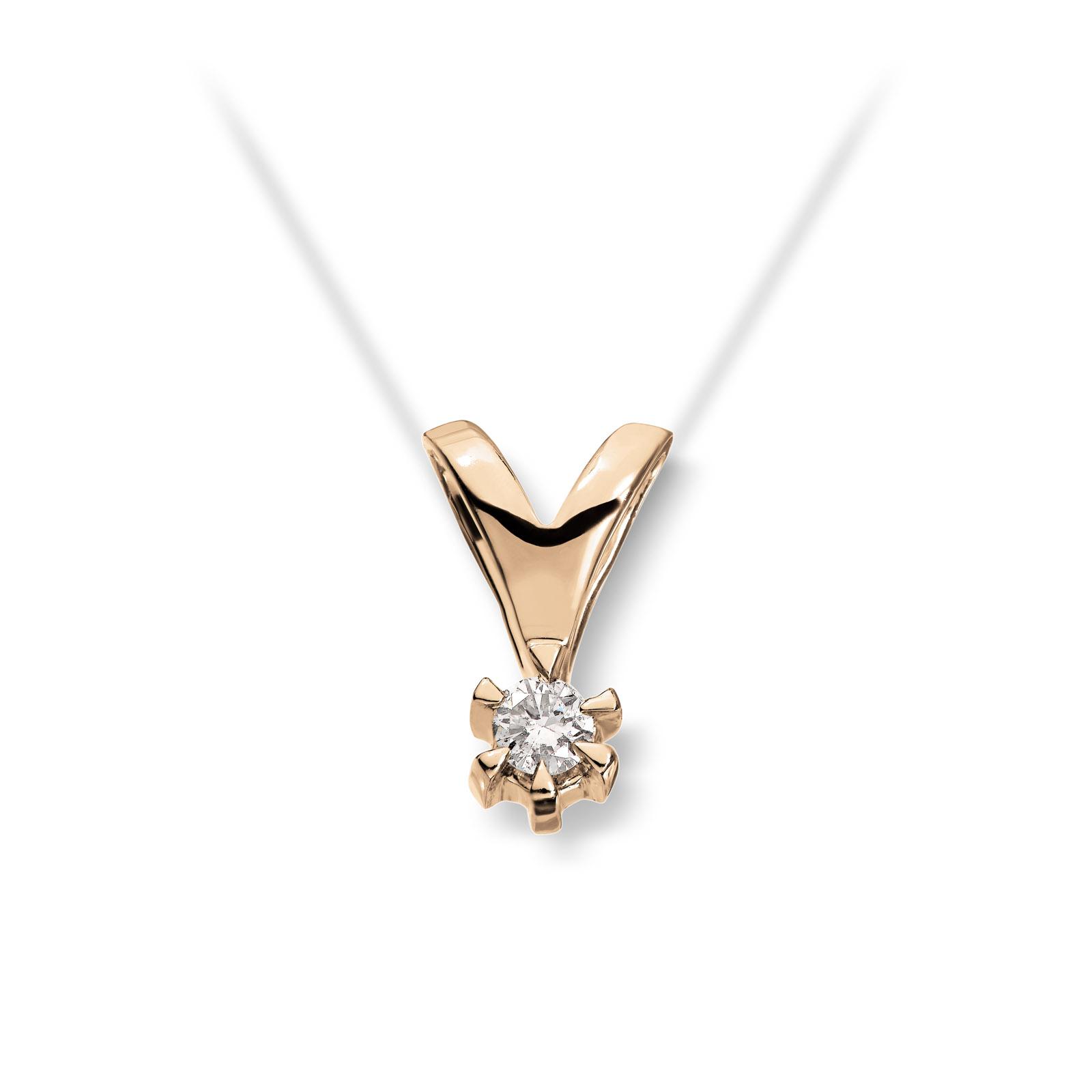 Mestergull Klondike er enstens serien med de gode prisene, et elegant design i gult eller hvitt gull. Diamanten velger du i størrelsene 0,03 ct. til 0,20 ct. KLONDIKE Anheng